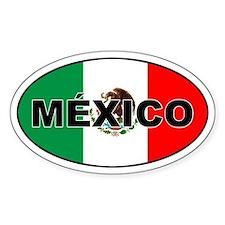 Mexico Oval Bumper Stickers