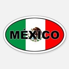 Mexico Oval Bumper Stickers