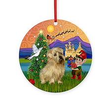 Xmas Fantasy & Norfolk Terrier Ornament (Round)
