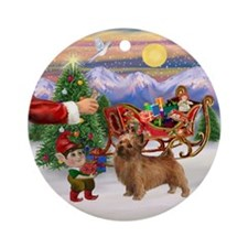Santa's Treat for his Norfolk Ornament (Round)