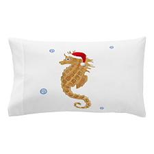 Santa Seahorse Pillow Case