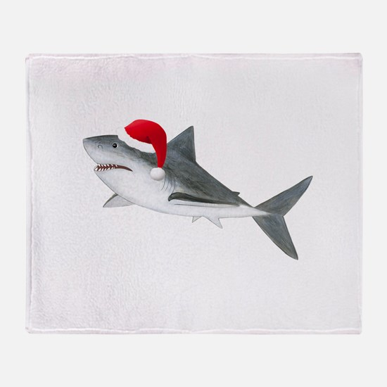 Christmas - Santa Shark Throw Blanket