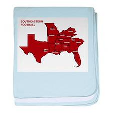 Southeastern Football baby blanket