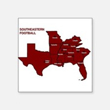 "Southeastern Football Square Sticker 3"" x 3"""