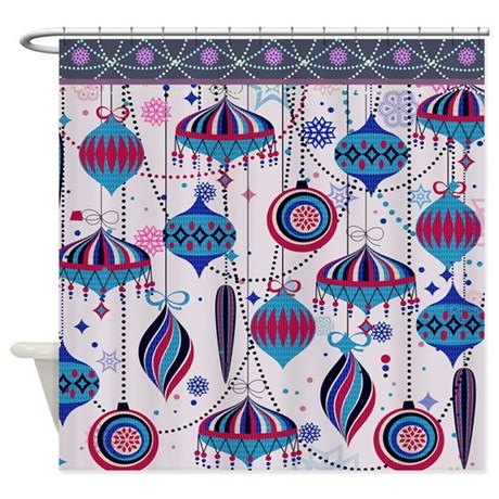 Pink Tint Ornaments Shower Curtain
