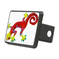 Crazy Colorful Red Lizard with Spots Hitch Cover