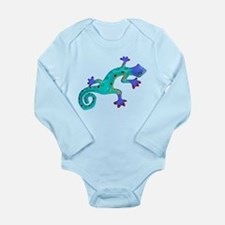 Turquoise Lizard with Red Toes Long Sleeve Infant