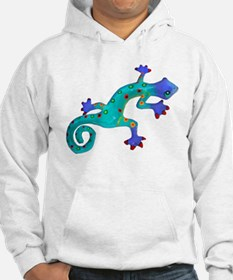 Turquoise Lizard with Red Toes Hoodie