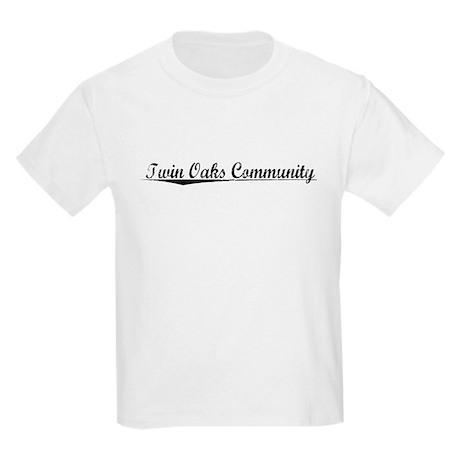 Twin Oaks Community, Vintage Kids Light T-Shirt