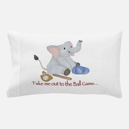 Baseball - Elephant Pillow Case