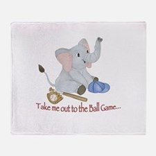 Baseball - Elephant Throw Blanket