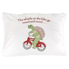 Turtle on Bike Pillow Case