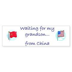 Waiting for my Grandson...fro Bumper Bumper Sticker