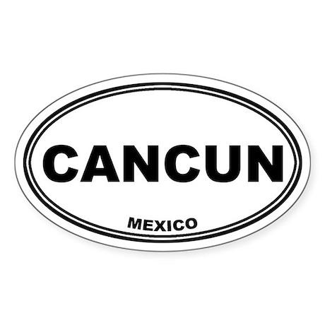 Cancun Oval Sticker
