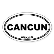 Cancun Oval Stickers