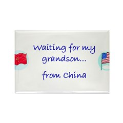 Waiting for my Grandson...fro Rectangle Magnet
