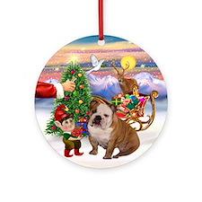 Santa's Treat for his English BD Ornament (Round)