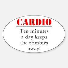 Zombie Cardio Workout Decal