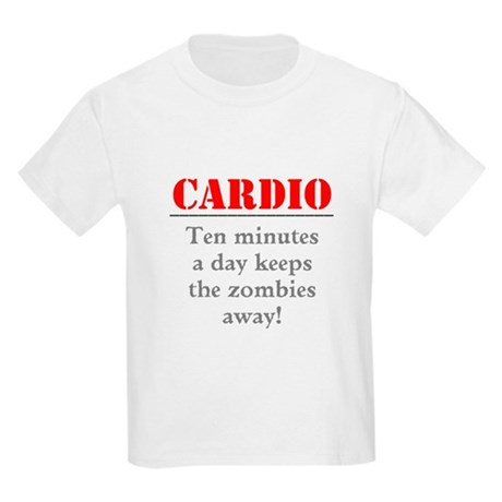 Zombie Cardio Workout Kids Light T-Shirt
