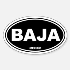 BAJA (Mexico) Oval Decal