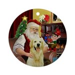 Santa's Light Golden Ornament (Round)