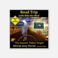 "Texas Road Trip Square Sticker 3"" x 3"""