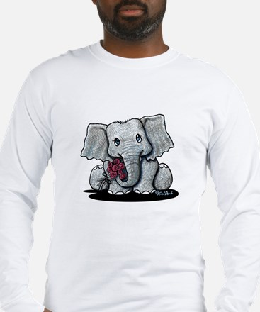 KiniArt Elephant Long Sleeve T-Shirt