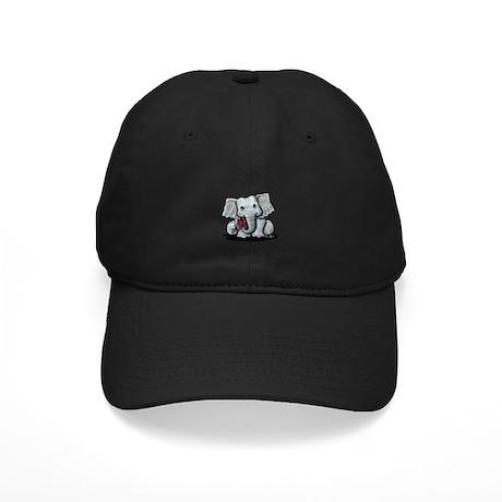 KiniArt Elephant Black Cap