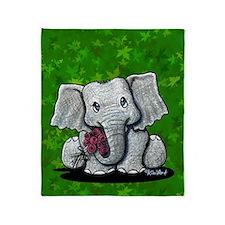 KiniArt Elephant Throw Blanket