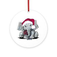 KiniArt Elephant Ornament (Round)