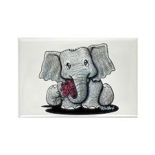 KiniArt Elephant Rectangle Magnet (100 pack)