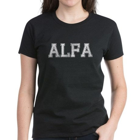 ALFA, Vintage Women's Dark T-Shirt