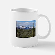 Snow in the Superstition Wilderness Mug