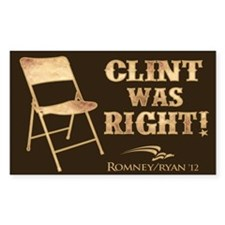 Clint Was Right! Decal