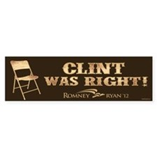 Clint Was Right! Car Sticker