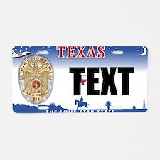 Texas Firefighter Custom License Plate