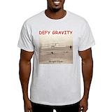 Defy gravity pilot airplane Mens Light T-shirts