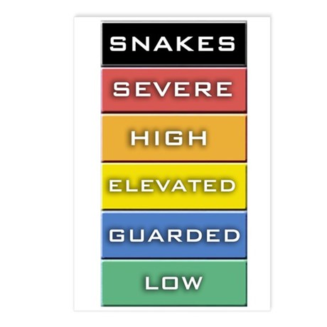 Snakes on a Plane Terror Alert Postcards (Package