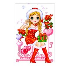 Candybar Xmas Postcards (Package of 8)