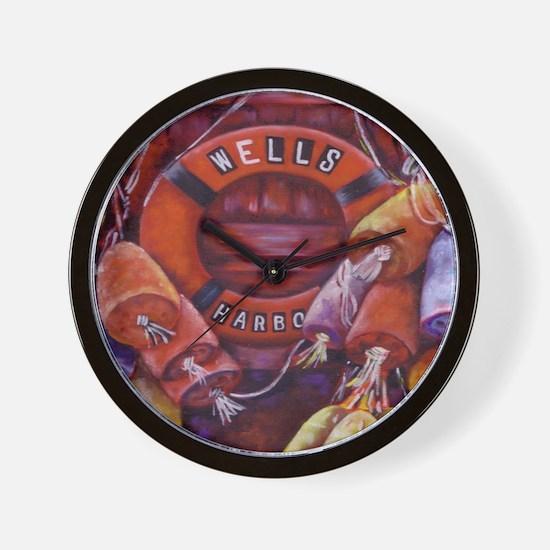 Wells Buoys Wall Clock