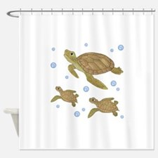 Sea Turtle Family Shower Curtain