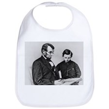 Abraham Lincoln and Son Tad Bib Civil War gift