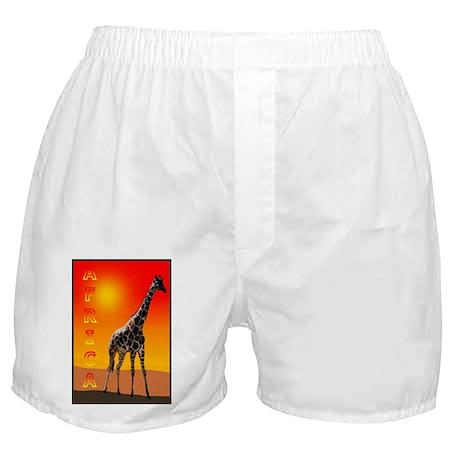 African Giraffe Boxer Shorts
