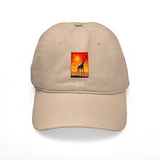 African Giraffe Baseball Cap
