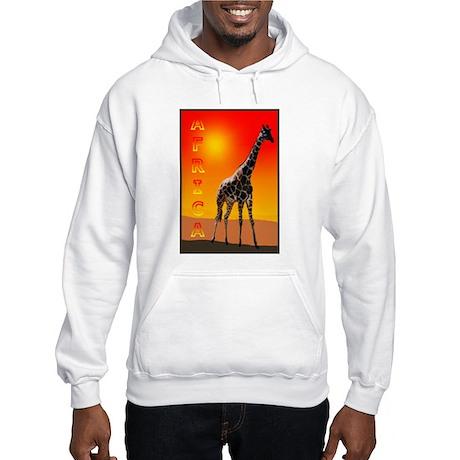 African Giraffe Hooded Sweatshirt