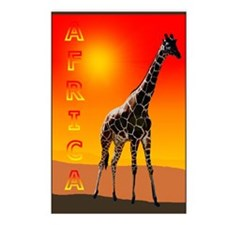 African Giraffe Postcards (Package of 8)