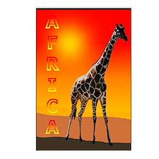 African Giraffe Postcards (Package of 8)