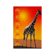 African Giraffe Rectangle Magnet