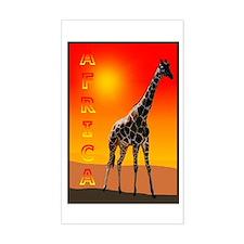 African Giraffe Rectangle Decal