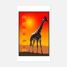 African Giraffe Rectangle Decal